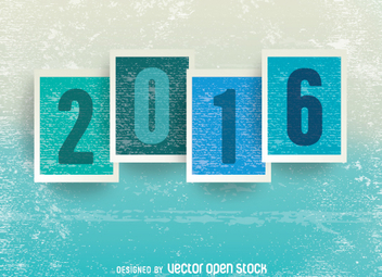 2016 grunge background - Free vector #333091