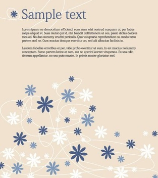 Minimal Blue Flowers Background - vector gratuit #333101