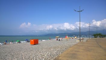 Popular beach in Batumi - Free image #333131