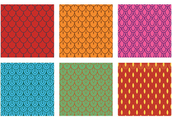Fish Scale Pattern Vector - Free vector #333311