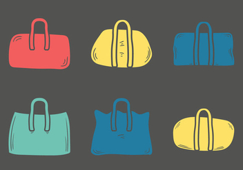Free Duffle Bag Vector Illustration - Free vector #333321
