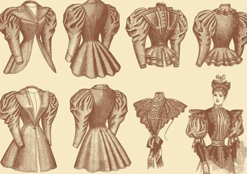 Old Style Clothes - vector gratuit #333351