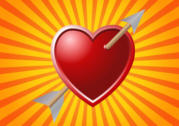 Free Arrow Through Heart Vector - Free vector #333511