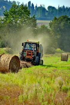 Tractor at work on a field - бесплатный image #333751