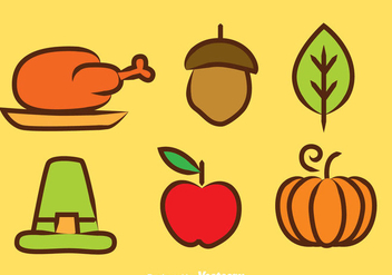 Thanksgiving Colors Icons - vector #333851 gratis