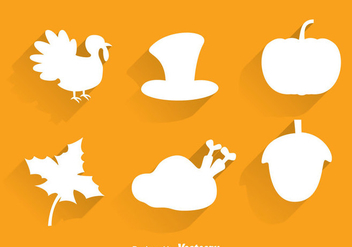 Thanksgiving Silhouette Icons - vector #333861 gratis