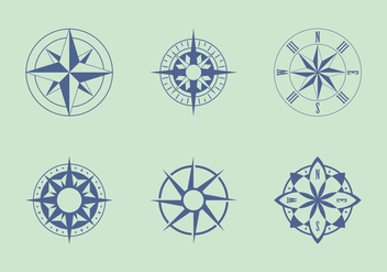 Classic Nautical Chart Vectors - vector gratuit #333871
