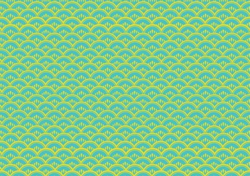 Fish Scale Pattern Vector - Free vector #333881