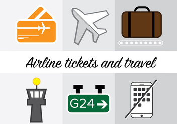 Airline Icons - vector #333891 gratis