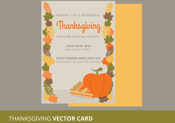Thanksgiving Vector Card - Free vector #333901