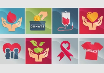 Donate Icon Vector - Free vector #333931