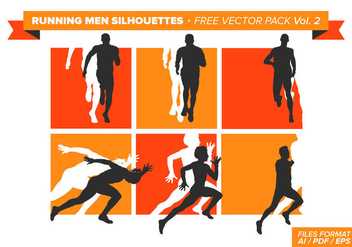 Running Men Silhouettes Free Vector Pack Vol. 2 - Free vector #333991