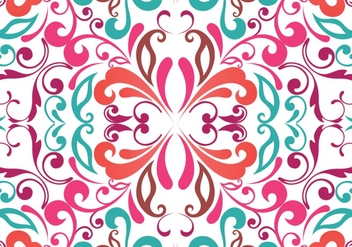 Summer seamless floral background - vector gratuit #334011