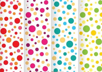 Colorful Polka Dot Pattern - Kostenloses vector #334051