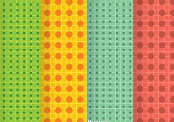 Bright Colors Dot Pattern - vector gratuit #334081
