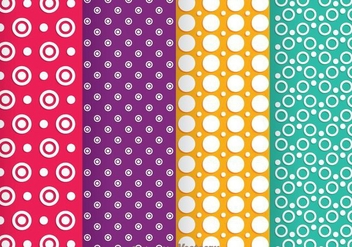 Circle Line Dot Pattern - Free vector #334091