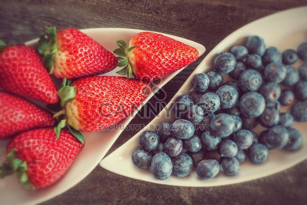 Strawberries and blueberries - Free image #334291