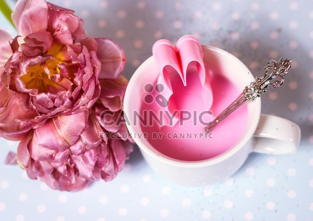 White cup with pink liquid - Free image #334311