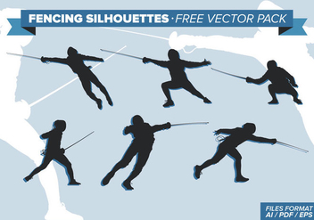 Fencing Silhouettes Free Vector Pack Vol. 2 - Free vector #334401