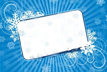 Swirling Frame Snowflakes Banner - Free vector #334501