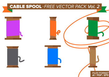 Cable Spool Free Vector Pack Vol. 2 - Free vector #334561