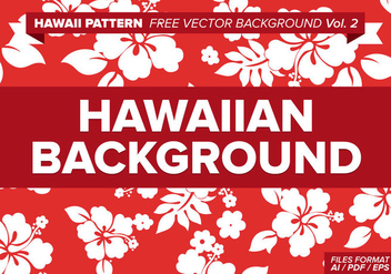 Hawaiian Pattern Free Vector Background Vol. 2 - vector gratuit #334571