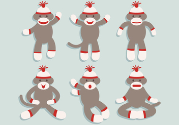 Sock Monkey Vector - vector gratuit #334591