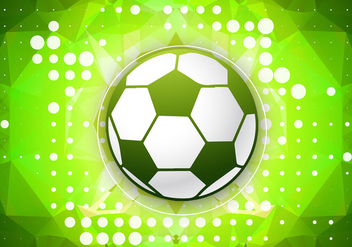 Green football vector - vector gratuit #334651