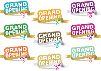 Grand Opening Titles - Free vector #334871
