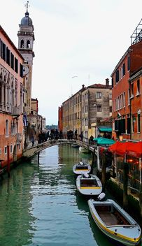 Boats on Venice channel - image #334971 gratis