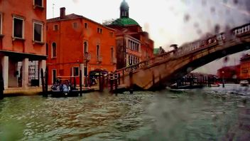 Venice channel during rain - image gratuit #335001