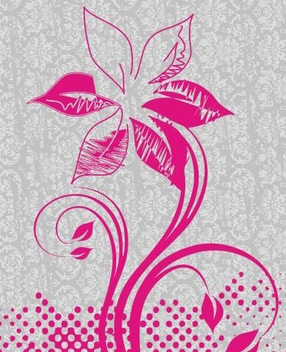 Grungy Flower Plant Retro Pattern - Free vector #335161