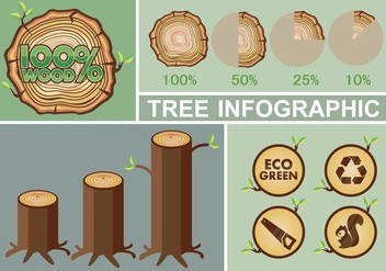 Tree infographic - vector gratuit #335311