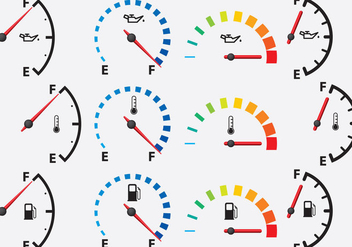 Colorful Gauges - vector gratuit #335331