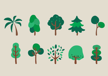 Vector Trees Illustration Set - vector gratuit #335361
