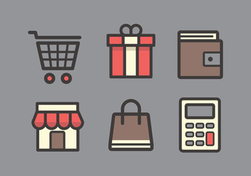 Vector Shopping Icon Set - vector gratuit #335371