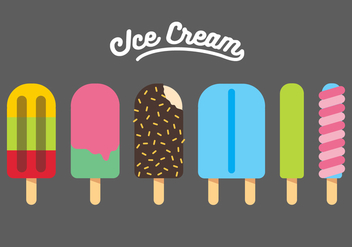 Vector Ice Cream Illustration Set - vector gratuit #335381