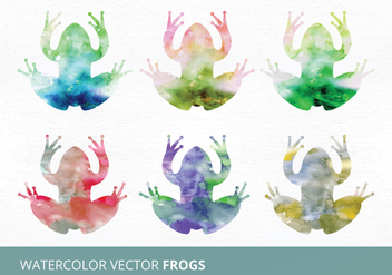 Watercolor Vector Frogs - vector gratuit #335481