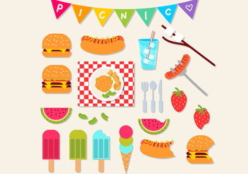 Picnic Icon Set - vector #335521 gratis