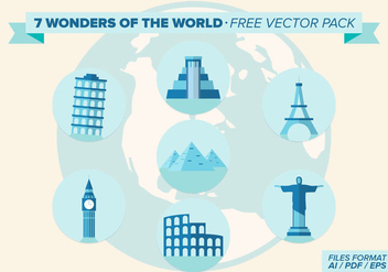 7 Wonders Of The World Free Vector Pack - vector #335541 gratis