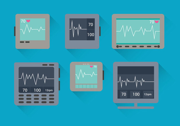 EKG Machine vectors - vector gratuit #335571