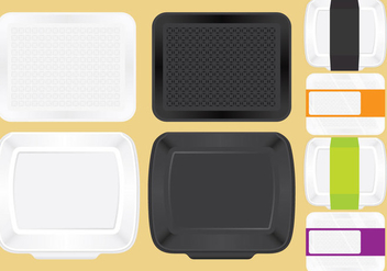 Food Trays For Lunch - vector gratuit #335581