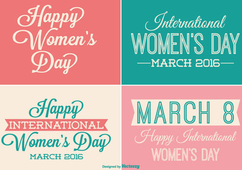 Womens Day Label Set - vector gratuit #335591