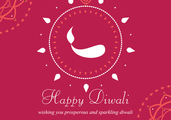 Happy Diwali Background - Free vector #335611