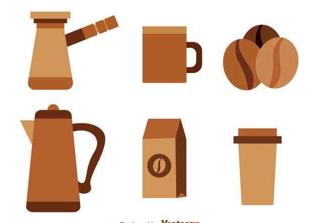 Coffee Brown Icons - vector #335621 gratis