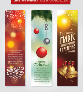 Christmas 160x600 Wide Skycraper banners - Free vector #335681