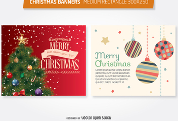 Christmas 300x250 medium rectangle - Free vector #335691