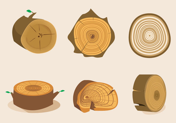 Tree Rings Texture Vector - Free vector #336011
