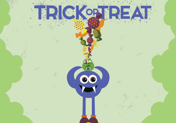 Free Monster Trick Treat Vector - Free vector #336021