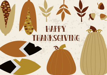 Free Thanksgiving Collage Vector - Kostenloses vector #336031